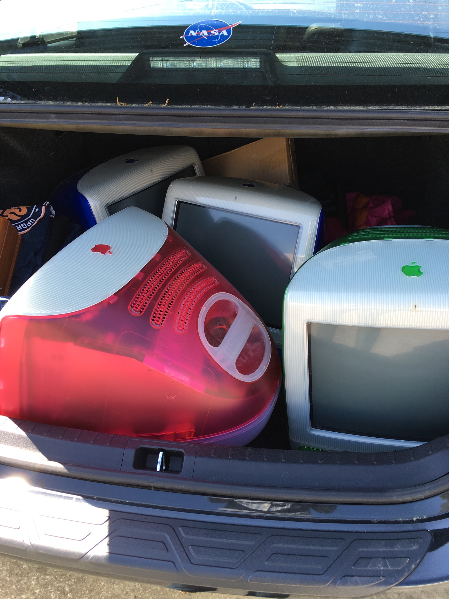 Trunk of iMacs