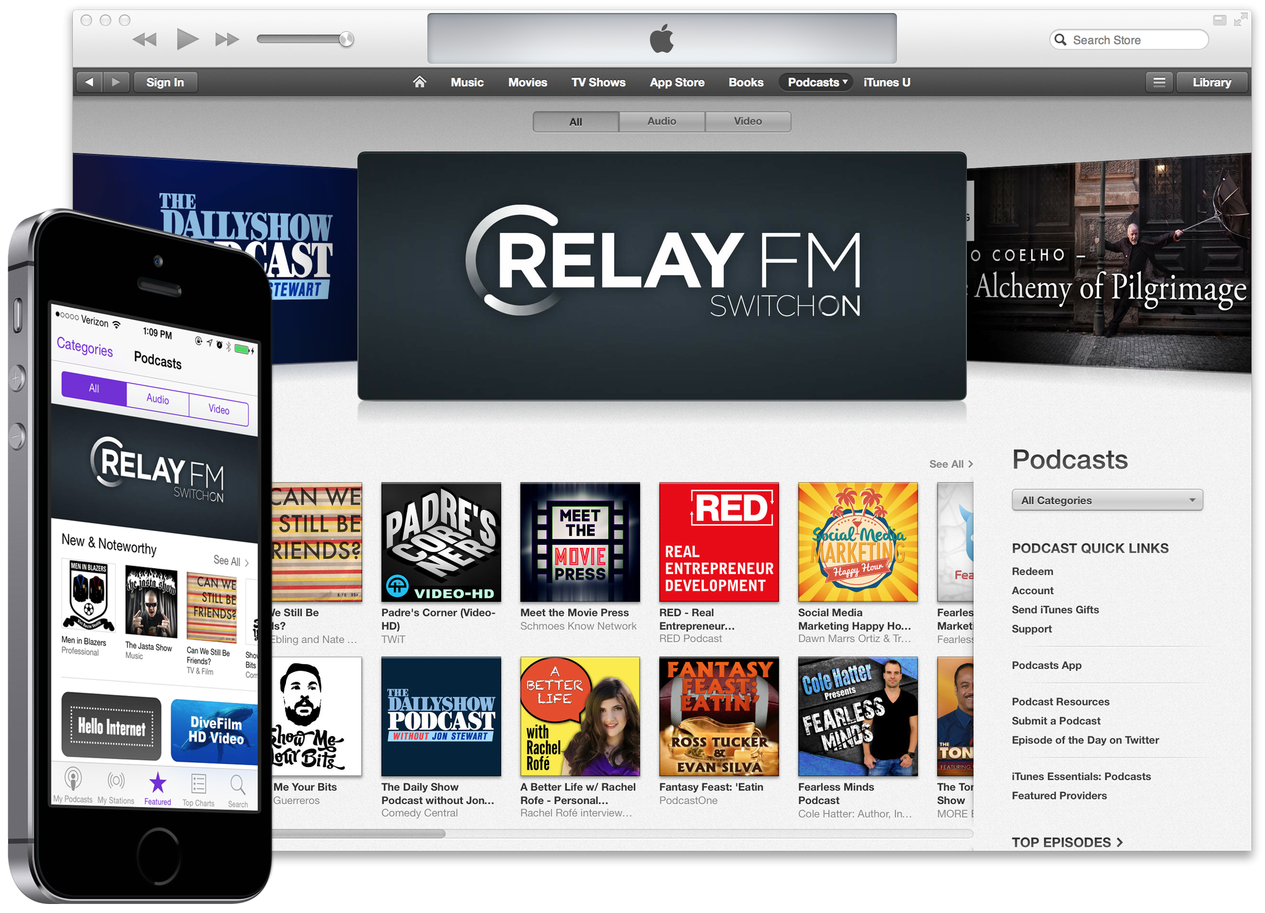 Relay FM in iTunes
