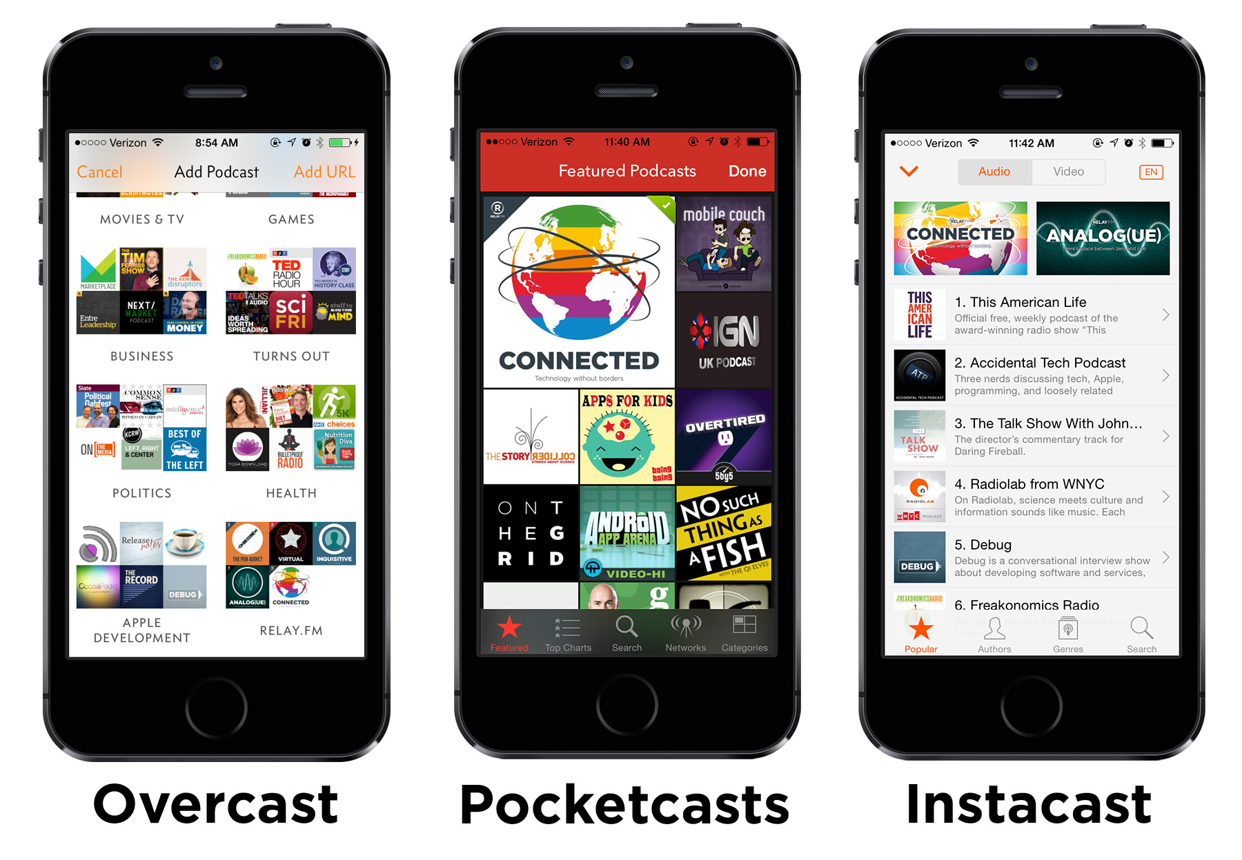 Relay FM featured in third-party apps.